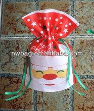 2013 Drawstring christmas bags/mini cotton drawstring bag/cotton linen drawstring bag