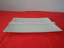 Disposable plastic rectangular plate