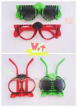 latest fashion funny plastic foldable kids sunglasses with CE,FDA certificates,UV 400 protection