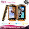 2013 Manufacturer Military Standard S09 IP68 Quad core Android 4.2 Rugged Smart Mobile Phone