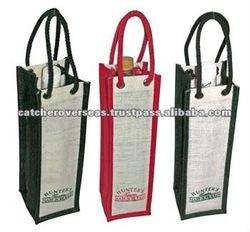 Jute Bags Wine Tote Bag