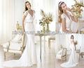 Cap- v manches- col de dentelle robe de mariée dos pow-277 2014 sexy robe de mariée mariage