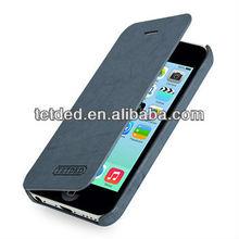 OEM Premium Leather Case for Apple iPhone 5C -- Dijon II (Natural: Ocean Blue)