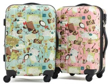 Original print design suitcase expandabletravel trolley bag