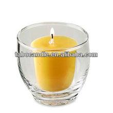 Black votive Plating laser candle jar/tall pillar church candle