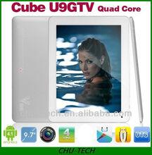 "9.7"" Cube U9GTv u9gt5 quad core retina Capacitive 1.8GHz dual cam 2GB/16GB TAB"