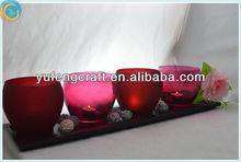 lotus votive holder animal print candles