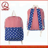 Fashion american flag canvas backpack for teenage girls