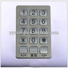 membrane rugged usb 15 keys metal numeric keypad