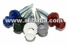 Painted self drilling screw/DIN7504 hex head roofing screw
