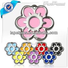 Enameling Daisy Flower Pet ID Tag