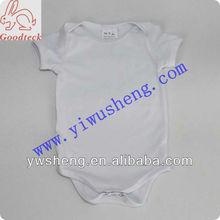 Wholesale white plain cotton baby romper