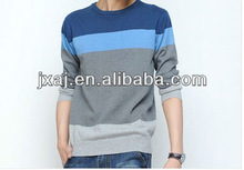 Men's sweaters tide thin cotton striped sweater male of han edition men's clothing