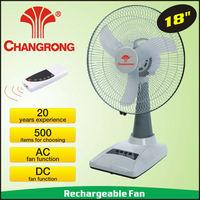 "CR-6418 Emergency Rechargeable 18"" Table Fan best selling imports"