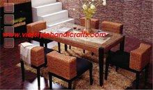 Indoor water hyacinth furniture- dining set 2012