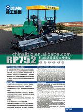 XCMG 7.5m RP752 Asphalt Concrete Paver Price New