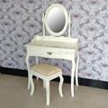 de madera pintada de blanco tocador antiguo juegos de mesa con espejo y taburete