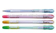 multicolored plastic ball point pen