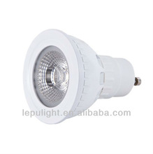 White elegant shell combine with sunflower lense gu10 cob led spotlight