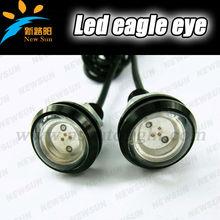 Custom Black Anodized Aluminum 6500K Xenon White 6W SMD LED Eagle Eye Lamps Back Up Reverse Parking Light For Car Van SUV Coupe