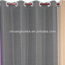2013 Good Product !Imitation linen plain cool grommet blackout curtain
