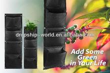 Parete verticale- montato vivente poliestere indoor fioriera muro nero