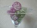 Xq colorido de alambre de aluminio bola/de vacaciones/la decoración de navidad- de color metálico bolas de alambre
