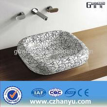GT-3034A bathroom colored square ceramic sink