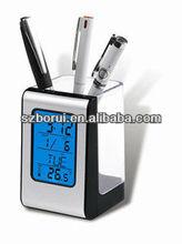 LED multifunction desktop calendar pen holder / business gifts/office gift pen holder