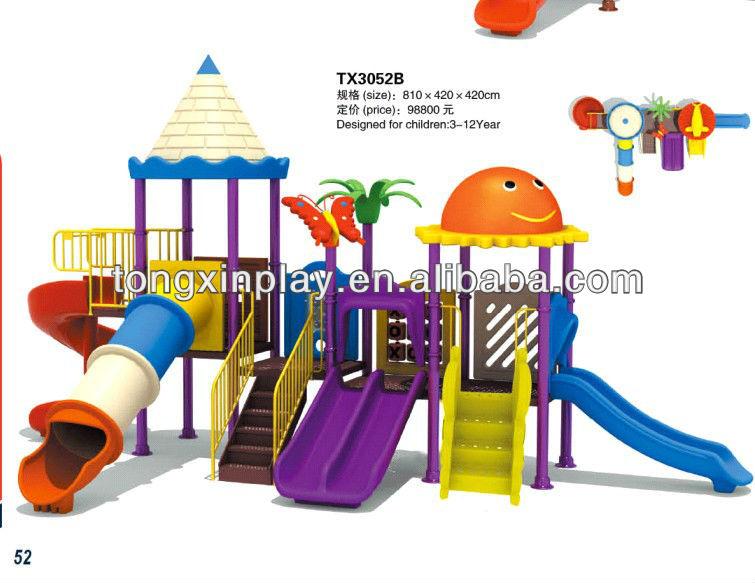 children outdoor playground big slides for sale TX3052B