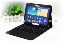 PU leather case with keyboard for samsung galaxy tab3 10.1 P5200 ,portfolio keyboard case
