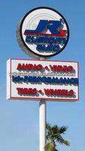 auto advertising standing pylon sign