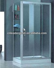 frameless bathroom tempered glass shower door