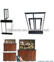top sale modern new house tv lift hidden in cabinet