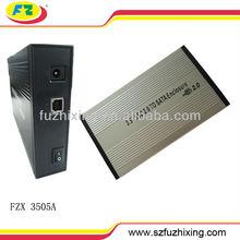 3.5 hdd lan enclosure sata hdd hard drive external case 480mbps 2TB