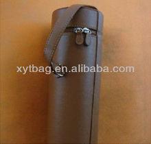 PU leather wine bottle gift bag wine bottle round holder