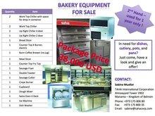 Set of Bakery Equipment for Sale!