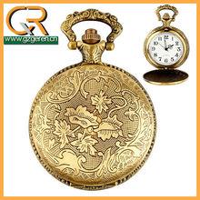 Guangzhou Made No Pattern Japan Movt Quartz Pocket Watch 1264o