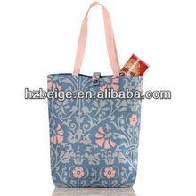 Designed fashion polyester patterned shopping bag , custom shopping bag