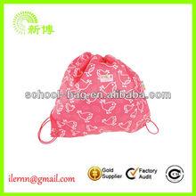 Promotion custom printed nylon shopping bag
