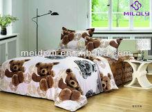 Teddy bear design pigment printing baby bedding comforter sets