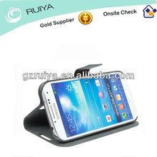 Hot Sell 2013 PU Leather Black Cell Phone Case Smartphone Flip Folder Holder Mobil Phone Bag