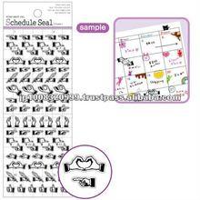 Schedule Sticker frame 3 _ five fingers _ sticker paper _ paper craft _ most popular products