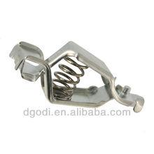 custom made nickel plated brass crocodile clip