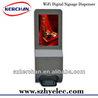 new invention 2013/Foam Soap Dispenser Automatic With 19 Inch Advertising Display Floor Stand