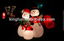 top sale event decoration inflatable Christmas Snowman with led light