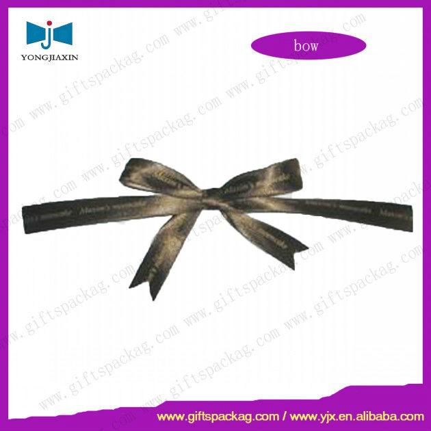 100% polyester adhesive gift wrap satin ribbon bow