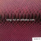 Crocodile grain skin pu leather for bags