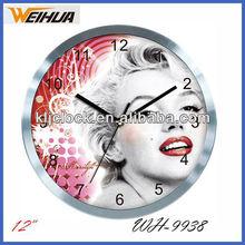 Luxury wall clock metal clock
