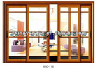 three panel sliding glass doors with built in blinds
